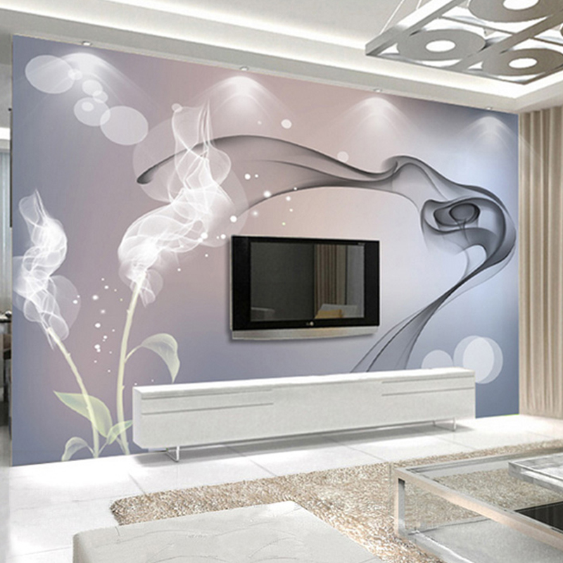 Custom Mural Wallpaper Personalized Non-woven Wall Covering Abstract Modern Minimalist Black And White TV Backdrop Wallpaper