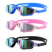 Polarized Adjutable Goggles Swim Glasses Anti-Fog UV Male Female Pool Sport Waterproof Silicone Mirrored Swimming Eyewear