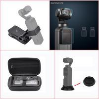4 in 1 Accessories Kits for OSMO Pocket Storage Bag, Camera lens Screen Protective Film, Desktop Base Stand, Stabilizer Bracket