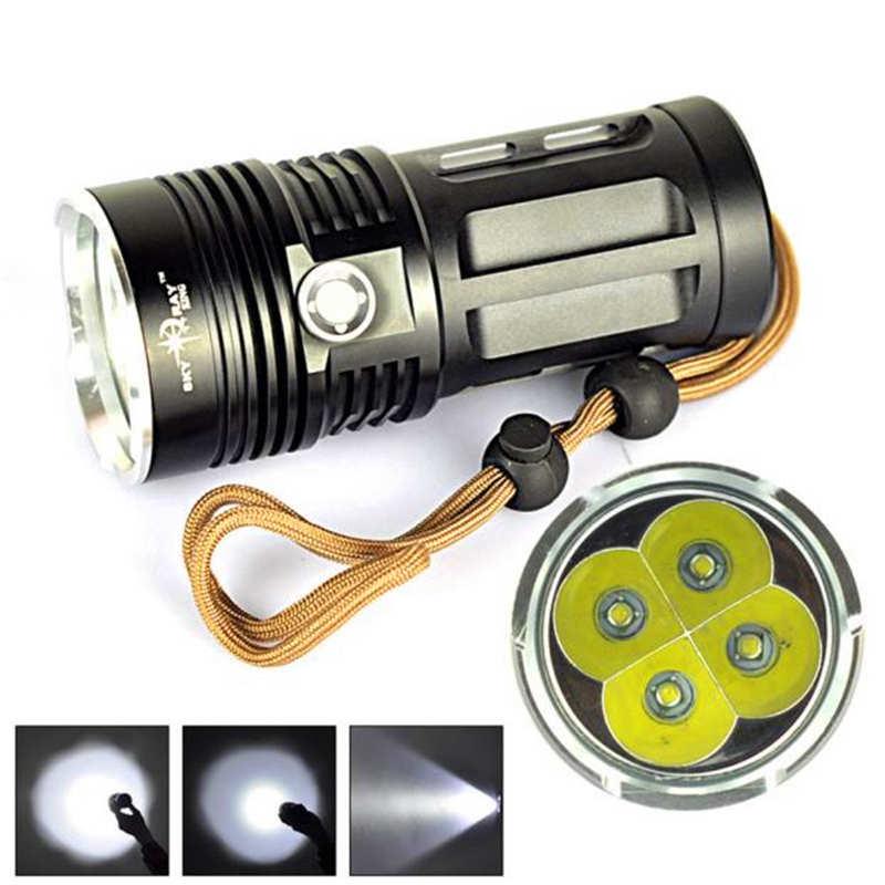 Dashing Super Bright 7000 Lm 4x Xm-l T6 Powerful Led Flashlight Torch Lamp 3 Modes Lanterna Led T6 Use 18650 Battery #3o5 Sufficient Supply Led Flashlights Led Lighting