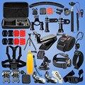 Câmera de ação de esportes acessórios 50-em-1 kits para gopro hero 4 3 + 3 sj4000 sj5000 sj6000 sj7000 xiaoyi câmera do esporte da ação