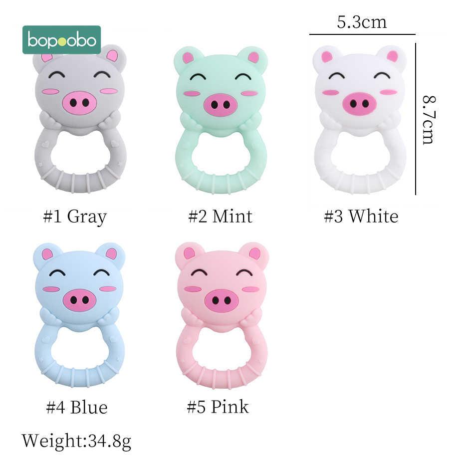 Bopoobo 1 шт. детский силиконовый Прорезыватель свинина класса Brid зубное кольцо для ребенка ожерелье-прорезыватель Аксессуары Детские продукты безопасные игрушки