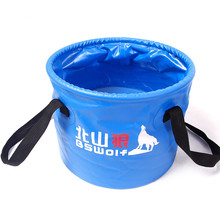 10L/20L Outdoor Camping Fishing Waterproof Folding Bucket Portable Water Storage for Travel Car Washing, Fishing Accessories