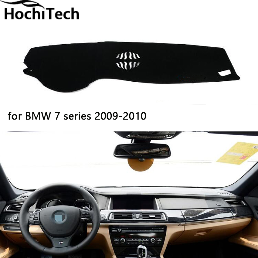 Hight quaity double layer mats for BMW 7 series dashboard mat Protective pad Shade Cushion car styling accessories 2009-2017