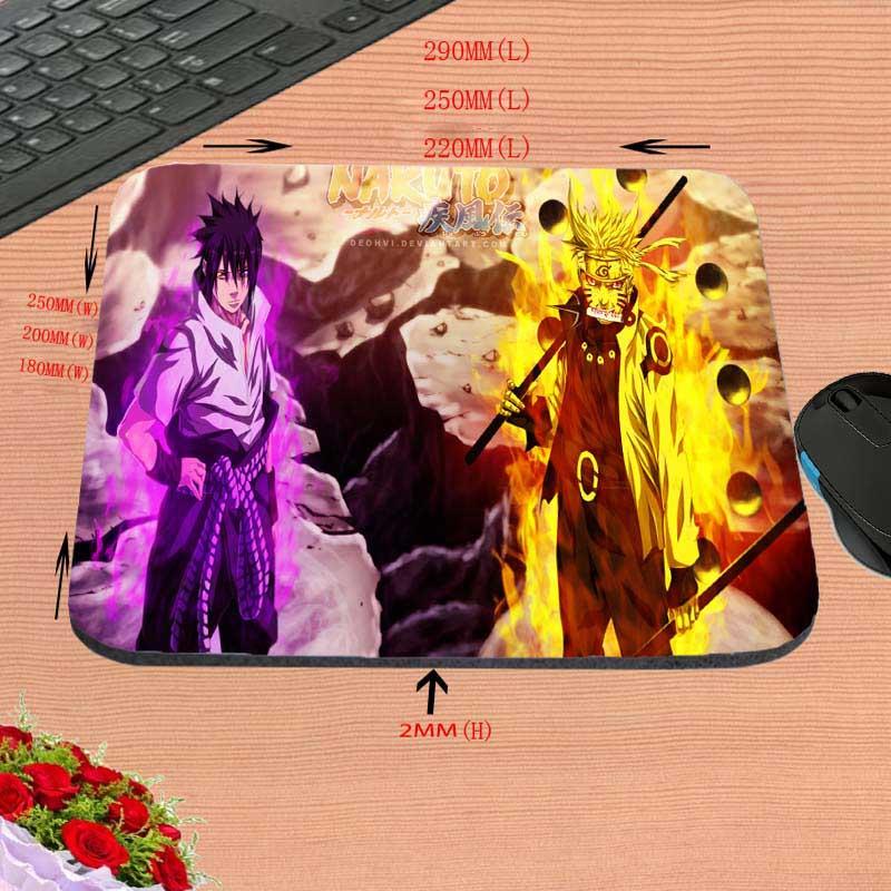 Пользовательские Топ продажи роскошные печати Наруто игры Дизайн игровой прочный резиновый PC против скольжения Мышь Коврики для оптически...