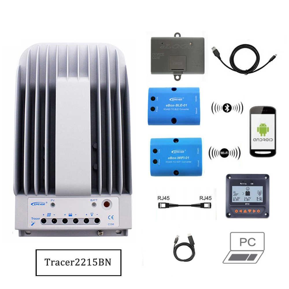 2215BN MT50 eBox-WIFI-01 eBox-BLE-01 Bluetooth eLog01 RTS300R47K3.81A Tracer2215BNN 20A MPPT שמש תשלום בקר תוכנת מחשב