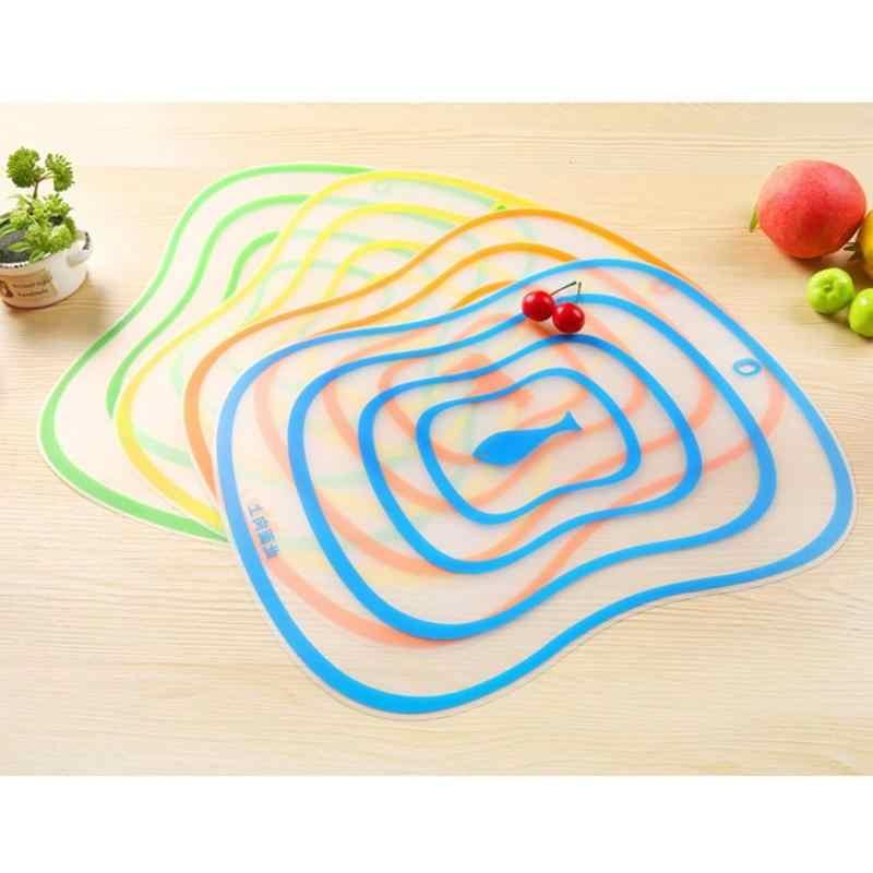 4 Pcs Cepo Plástico Placa De Corte Da Cozinha Flexível Placa De Ensaio Não-slip Fosco Antibacteria Acessórios de Cozinha