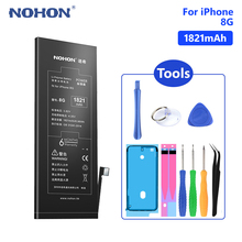 NOHON Phone Mobile Batteries Real capacity 1821mAh Battery For Lithium Polymer iPhone 8 8G iPhone8 Free Tools