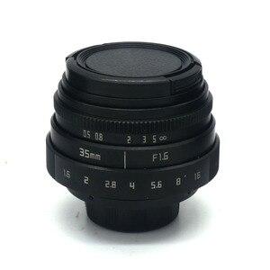 Image 5 - Nuevo para fujian 35mm f1.6 C montaje lente de cámara CCTV II + bolsa + 37mm uv + cubierta para Sony NEX e mount cámara y paquete adaptador negro