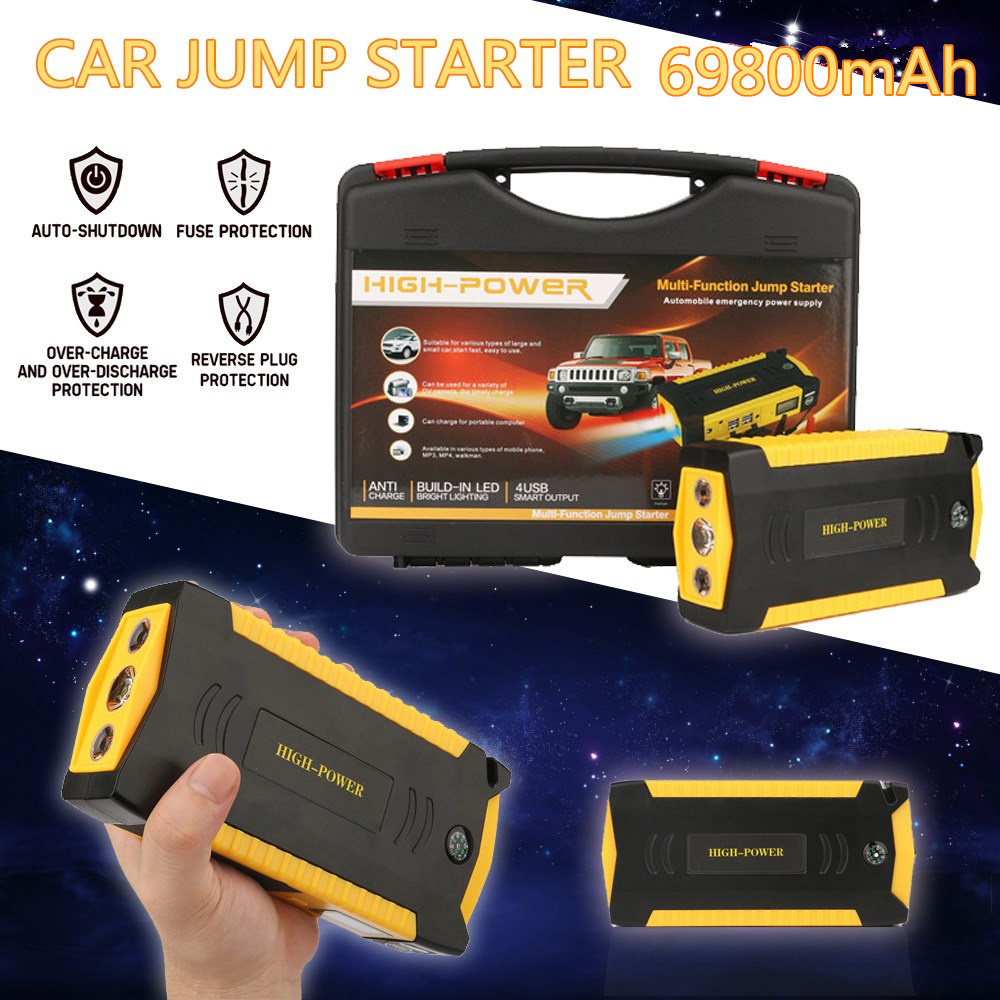 ФОТО FSTONG Car Jump Starter Automobile Emergency Power Bank 69800mah 12V 4USB 3LED Car-charger Trigger Device for a Vehicle CS007