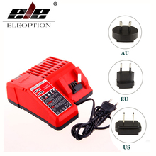 ELEOPTION 14V-18V Charger for Milwaukee Li-ion Battery M18 C18C C1418C 48-11-1820 48-11-1815 48-11-1840 EU AU US Plug