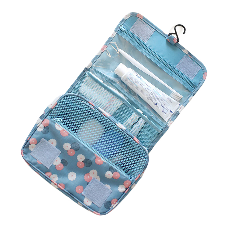 Купить с кэшбэком Fashion Travel Hanging Makeup Pouch Men Women Zipper Tolitery Kit  Beauty Cosmetic Organzier Storage Bag Drop Shipping