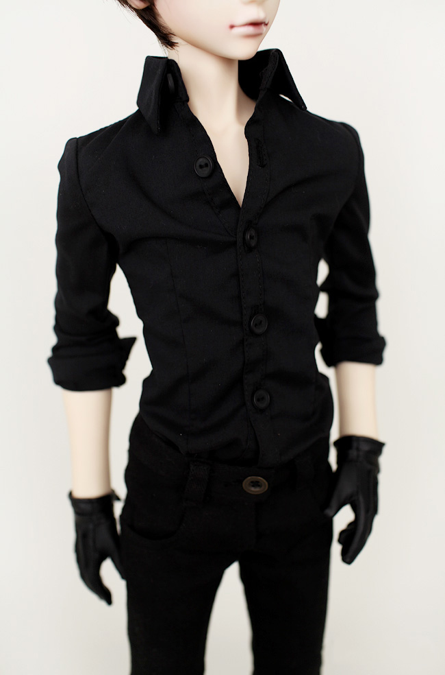 <font><b>Bjd</b></font> doll clothes <font><b>suit</b></font> <font><b>suit</b></font> black shirt + trousers 1/4 <font><b>1/3</b></font> can be customized size image