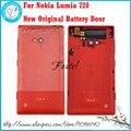 Para nokia lumia 720 nuevo teléfono móvil original de nuevo caso de la cubierta de batería de vivienda cubierta de la puerta + botón lateral liberan el envío!