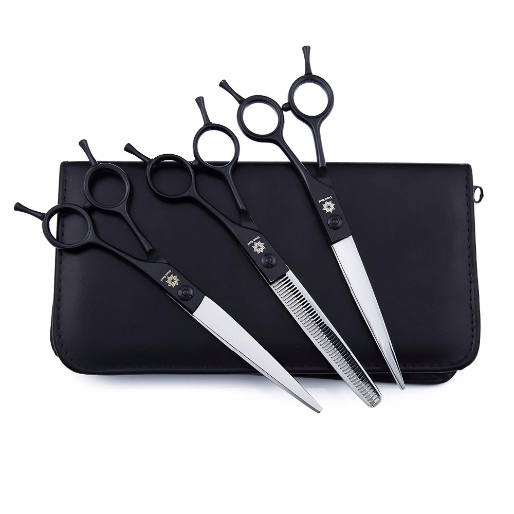 Professional 7.0Twin Tail Pet Grooming Scissors Set Dog Shears, 3 Pcs Stainless Steel Pet Trimmer Kit, Used for Dog or Cat Professional 7.0Twin Tail Pet Grooming Scissors Set Dog Shears, 3 Pcs Stainless Steel Pet Trimmer Kit, Used for Dog or Cat