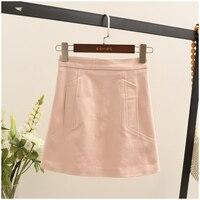 7 S юбка Женская Корейская версия 2019 лето новое слово юбка сумка бедра была тонкая джинсовая юбка женская bnm27a Вишня