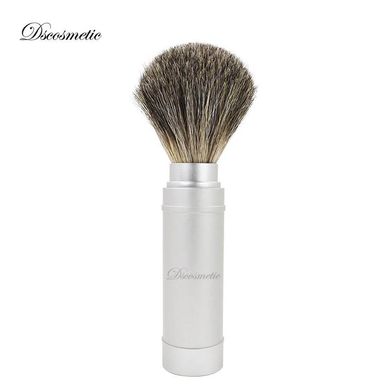 DScosmetic Pure Badger Hair Brush Knot Metal Handle Travel Shaving Brush Hot Sale Hight Quality Traditional Shaving