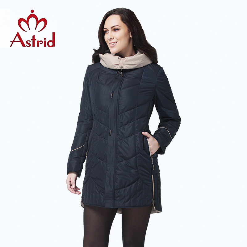 Astrid jacket winter women coat Casual female Parkas Female Hooded Coats solid ukraine Plus Size fashion