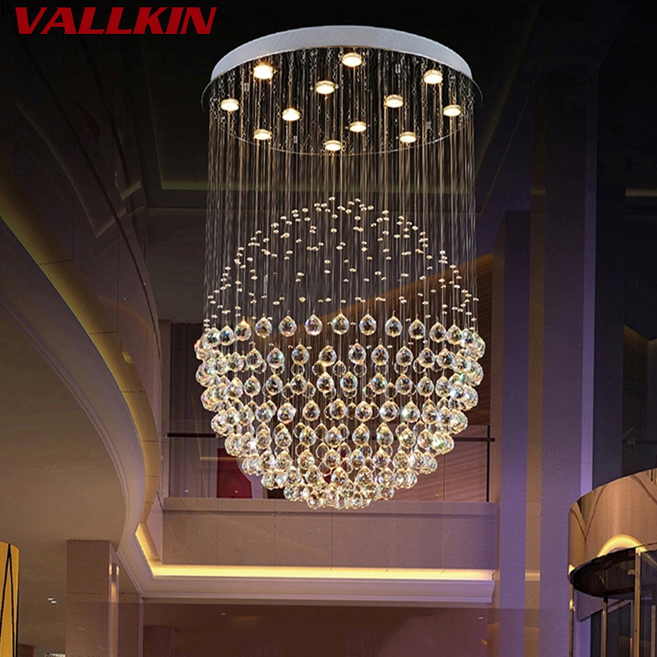 LED Crystal Chandeliers Lights Round Globular Luxury Chandelier Design for Indoor Deco Living Room Living Room Hotel Study Bar european crystal chandelier living room decoration home lighting luxury glass chandeliers hotel hanging lights indoor wall lamp