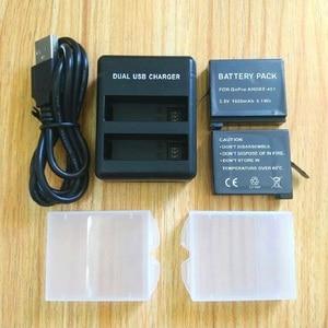 Image 1 - カクレクマノミ移動プロヒーロー 4 バッテリーbateria移動プロ 4 バッテリーusbデュアル充電器バッテリーケースヒーロー 4 シルバー/黒アクションアクセサリー