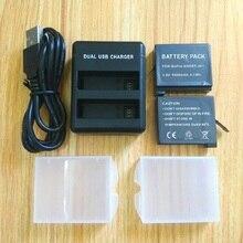 דגי ליצן עבור Gopro Hero 4 סוללה bateria Gopro 4 סוללה USB הכפול מטען סוללה מקרה גיבור 4 כסף/שחור פעולה אבזרים