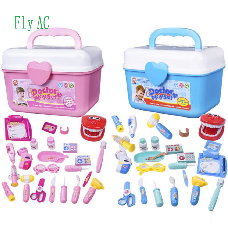 fde93fbcb Fly AC Durable Kids Doctor Kit with Electronic Stethoscope and 25 Medical  Doctor's Equipment, Packed in a Sturdy Gift Case-in Doctor Toys from Toys  ...