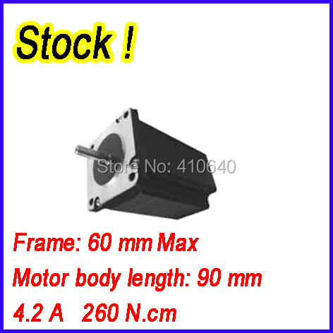 цена In Stock! Free shipping step motor 24HS1404 4.2 A 260 N.cm with 4 lead wires and step angle 1.8 degree