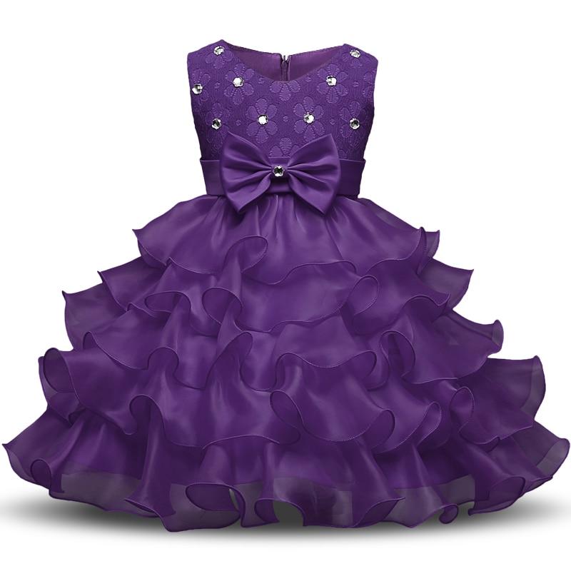 1cbaf29e29e0 Baby Girl 1 Year Birthday Dress Pink Party Bow Ruffles Beautiful ...