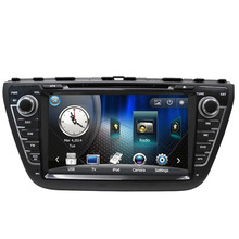 Free Shipping 8″ Car DVD Player GPS Navigation for Suzuki SX4 S-Cross 2014 with TV Bluetooth Radio RDS Steering wheel control