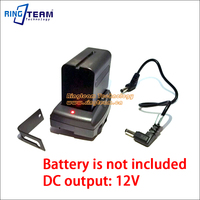 Output DC 12V NP F970 F570 F550 Battery Power Transfer Supply System Mount Adapter Plate Holder