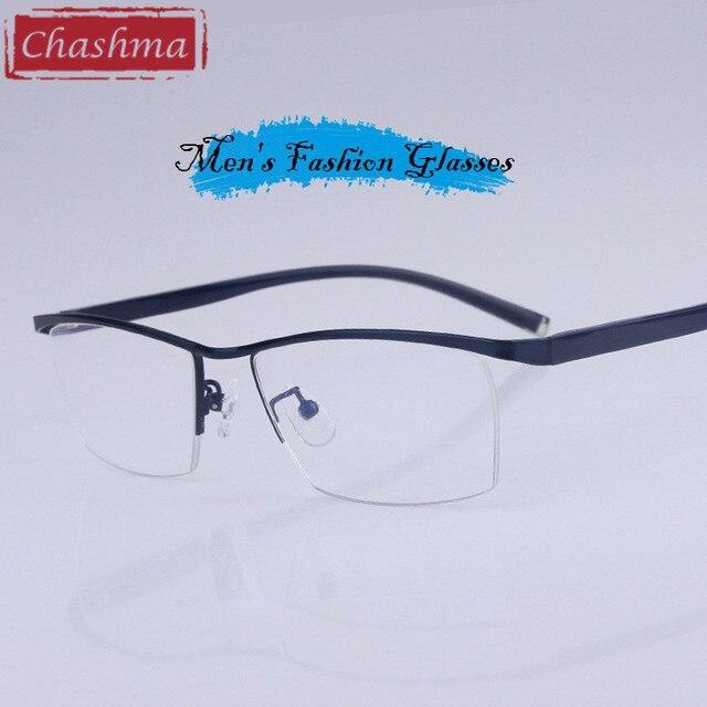 223a7b99c4a7d Chashma Progressiva Óculos de Armação Grande Óculos Metade Frame Homens  Óculos Ópticos Óculos de Qualidade Masculino