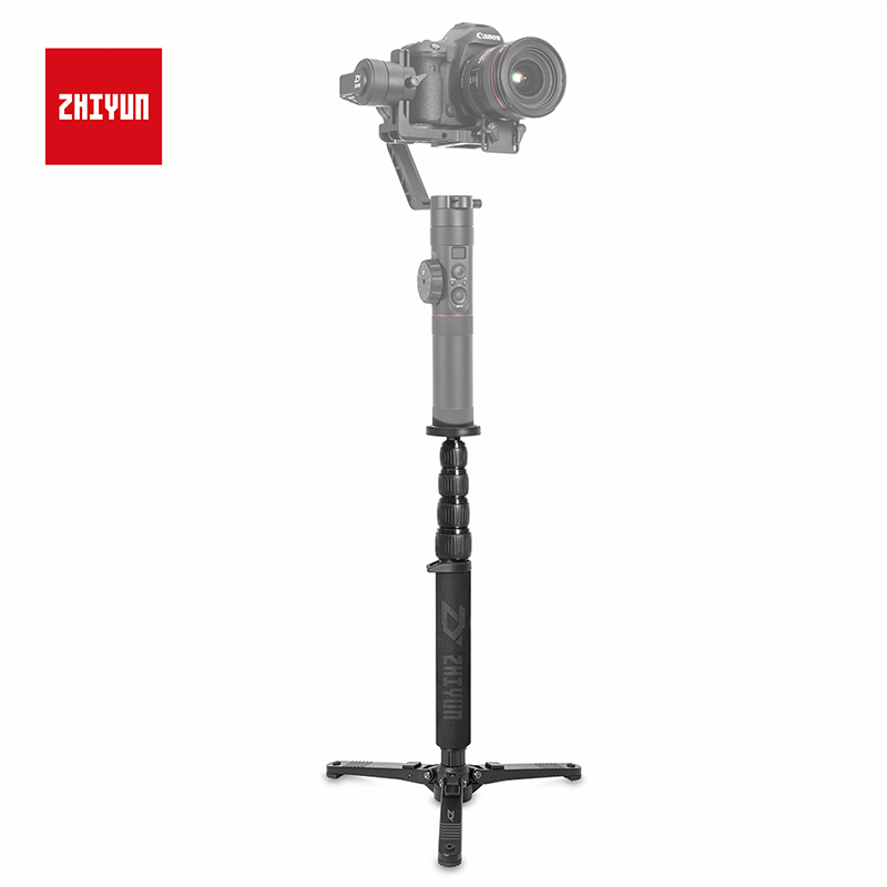 "ZHIYUN Official Extend Telescopic Monopod Tripod for Crane 2 Handheld Gimbal Stabilizer with 1/4"" Mounting Screw Accessories-in Gimbal Accessories from Consumer Electronics"