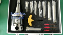 Precision NBH2084 8-280mm  Boring Head System+NT50 M20 Holder+8pcs 20mm Bar rang Tool Set
