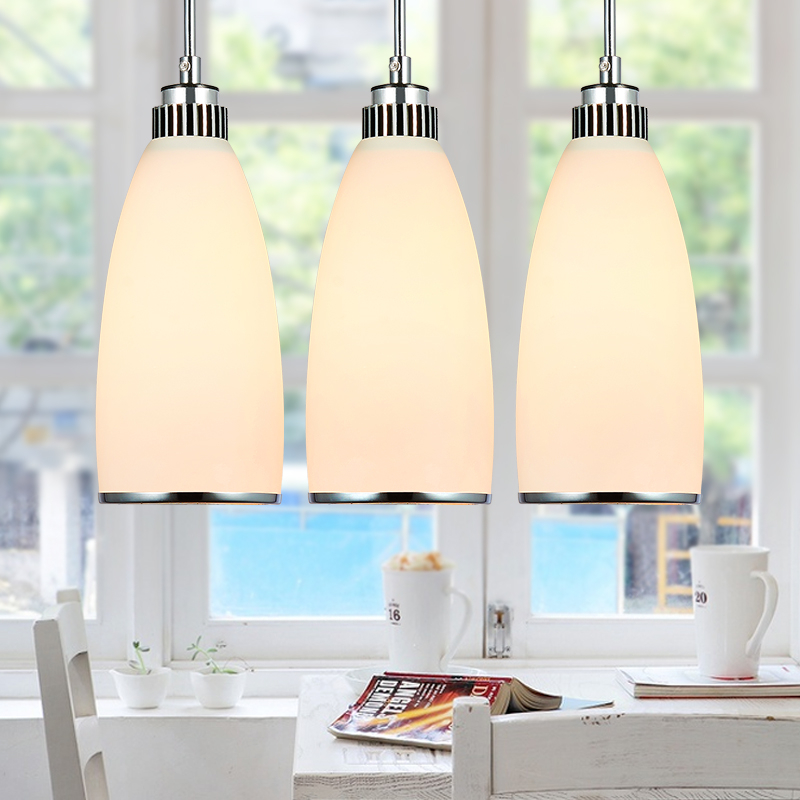 1/3 heads lamps three creative pendant lights modern simple LED dining room single head bar small pendant lamp FG728 lo1018 rectangular dining room pendant lights european style led crystal pendant lights modern restaurant lamp bar cafe creative lamps