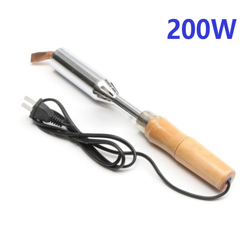 200V (100W/150W/200W/300W) Soldering Iron Heavy Duty Chisel Point Wooden Handle For Electronic Maintenance Production Electric Soldering Irons    - AliExpress