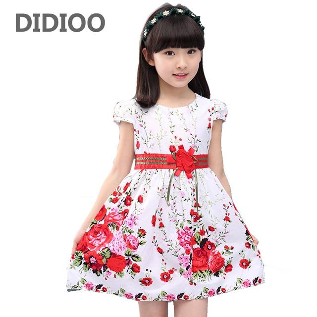 506529655d4 Принцессы Нарядные платья для девочек свадебные платья Цветочный принт дети  выпускного летнее платье Возраст 4