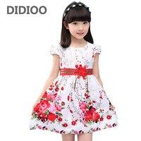 Kız Gelinlik Çiçek Baskı Çocuklar Için prenses Parti Elbiseler Balo elbiseler Yaz 2017 Sundress 4 6 8 10 12 Yıl Vestidos