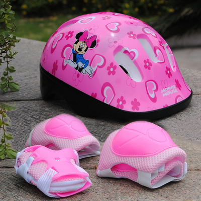 2018 cheapest Children's helmet gear wheel skating roller skates protective suits 7 pcs/set 18 colours available
