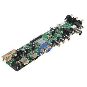 Image 3 - V56 V59 تلفاز LCD لوحة للقيادة DVB T2 7 مفتاح التبديل IR 4 مصباح العاكس LVDS عدة 3663