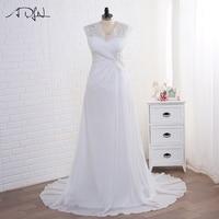 New 2016 Arrival Dress Elegant Applique Wedding Dresses Chiffon Vestidos De Novia Plus Size Beach Bridal