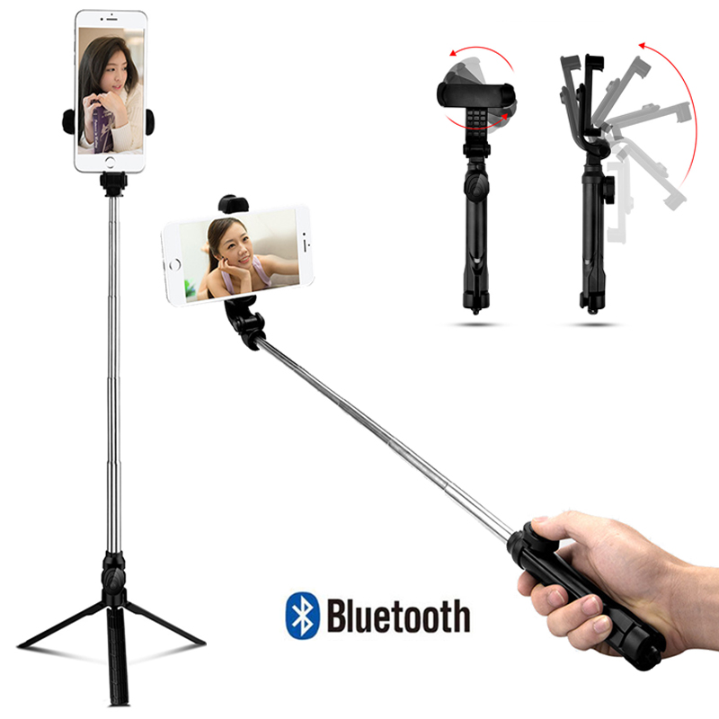 Selfie vara tripé monopé para iphone ios samsung xiaomi huawei android os telefone tripé flexível para gopro câmera titular