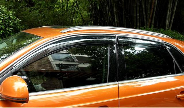 2012 2013 2014 2015 For Audi Q3 Visor Vent Shade Window Deflector Sun Ran Guard 4pcs