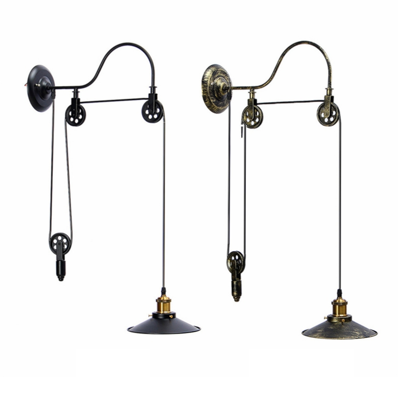 E27 40W Pulley Retractable Retro Vintage Pendant Lights Black/Bronze  Industrial Loft Hanging Pendant Lamp