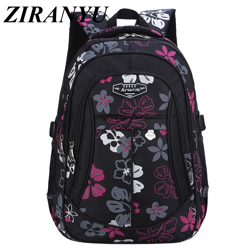 New Fashion Floral Printing Large Capacity School Bags For Girls Brand Women Backpack Cheap Shoulder Bag Wholesale Kids Backpack