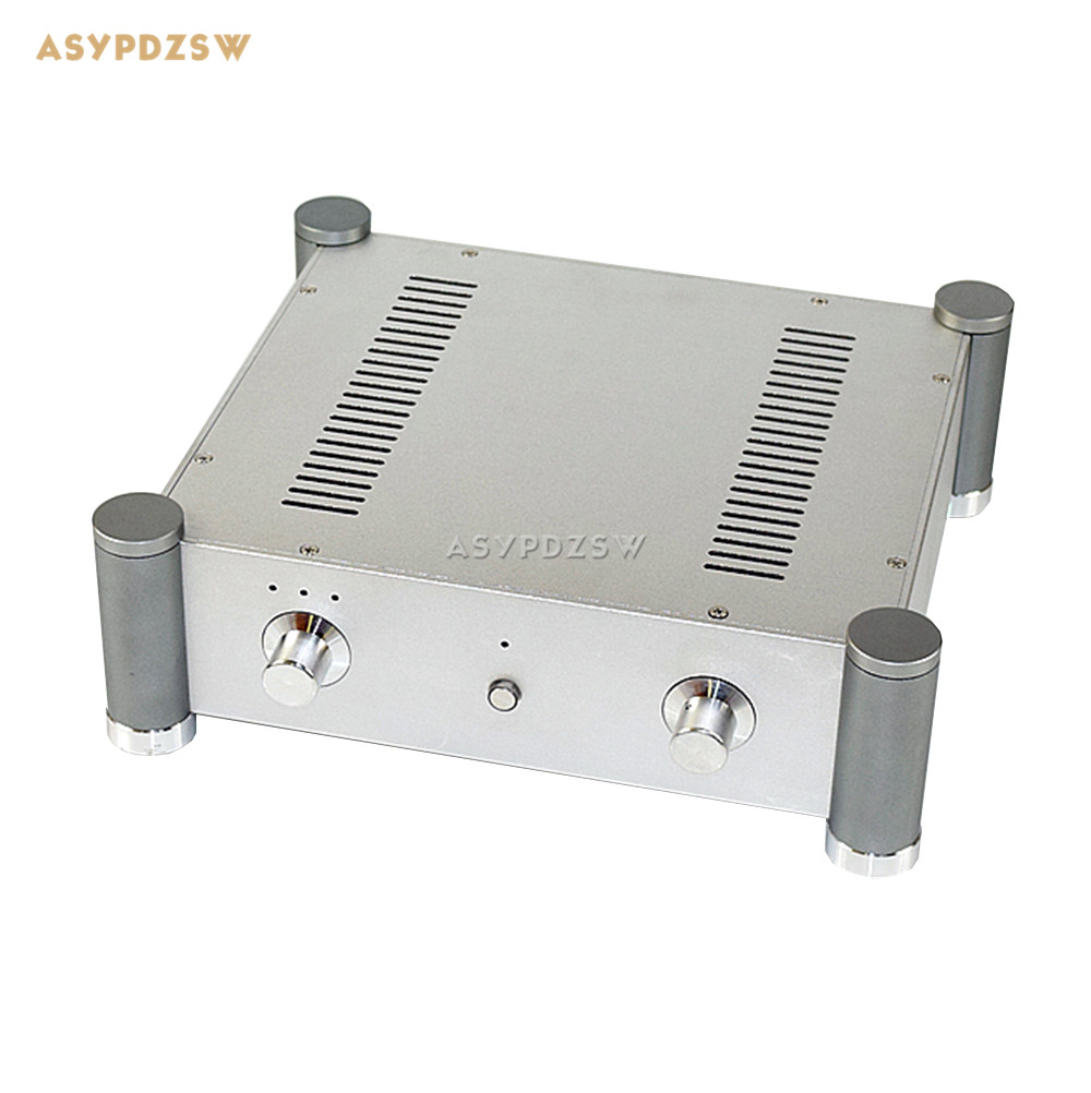 WA127 Full aluminum Power amplifier chassis Tube amplifier chassis Power amplifier rear class chassis 315*355*115mm nobsound hi end audio noise power filter ac line conditioner power purifier universal sockets full aluminum chassis