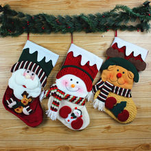48*24CM Large Santa Snowman Reindeer Stocking Christmas Tree Decorate Gift Socks Festival Xmas Party Shop Window Hanging Toys