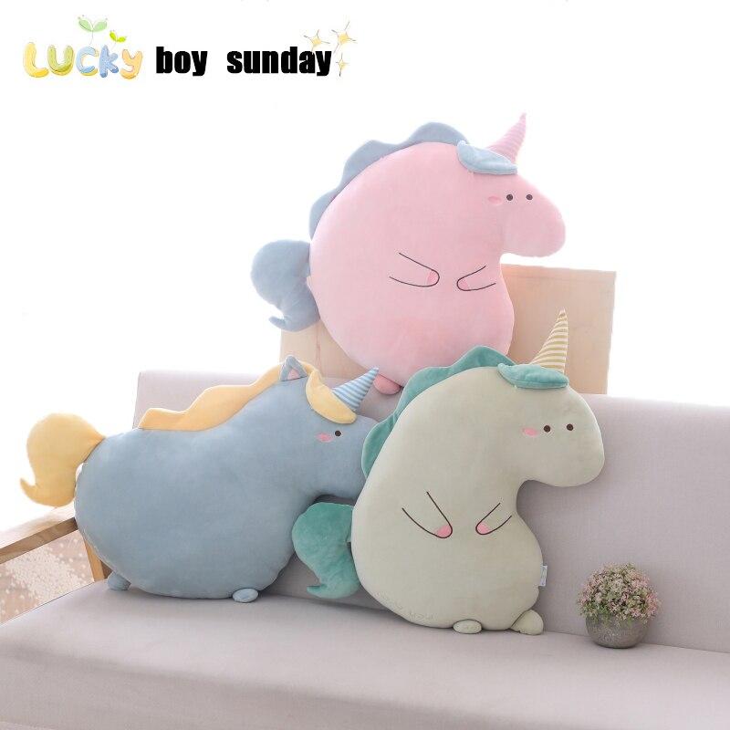High Quality Cute Unicorn Plush Toy Funny Soft Unicorn Hug Pillow Sofa Decorative Cushion Birthday Gift For Kids
