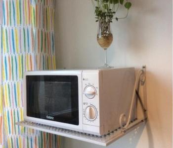 Creative Microwave Oven Shelf Metal Kitchen Storage Holder Wall Mount Storage Rack