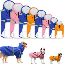 Dog Raincoat Reflective Slicker For Small Medium Large Dogs Clothes Pet Rain Coat Waterproof Overalls Hooded Pet Dog Clothing