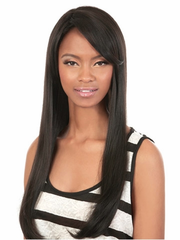 Women Long Straight Natural Wigs Fashion synthetic Hair Black Women Long  Natural Hair Dance Party Fancy Dress Wig 475c599855